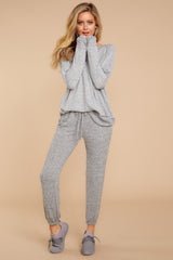 7 Saturday Night Snuggles Grey Joggers at reddressboutique.com