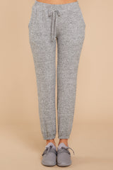 3 Saturday Night Snuggles Grey Joggers at reddressboutique.com