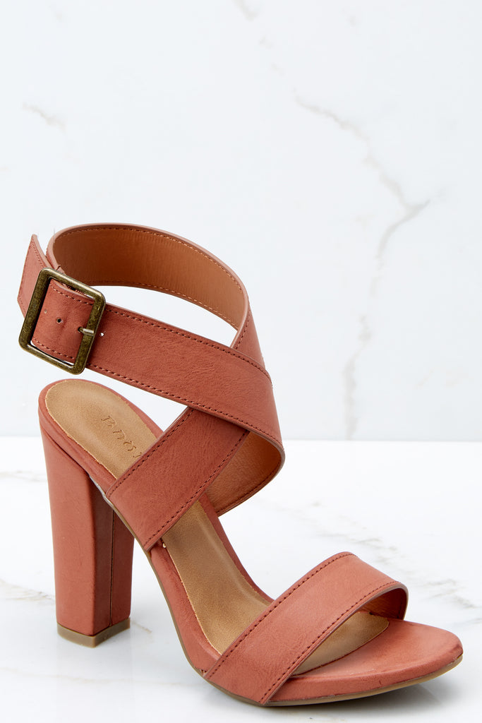 7a63bce298cf Trendy Brown Ankle Strap Heels - Cute Heels - Heels -  38.00 – Red Dress