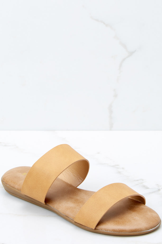 1 On Track To You Taupe Sandals at reddressboutique.com