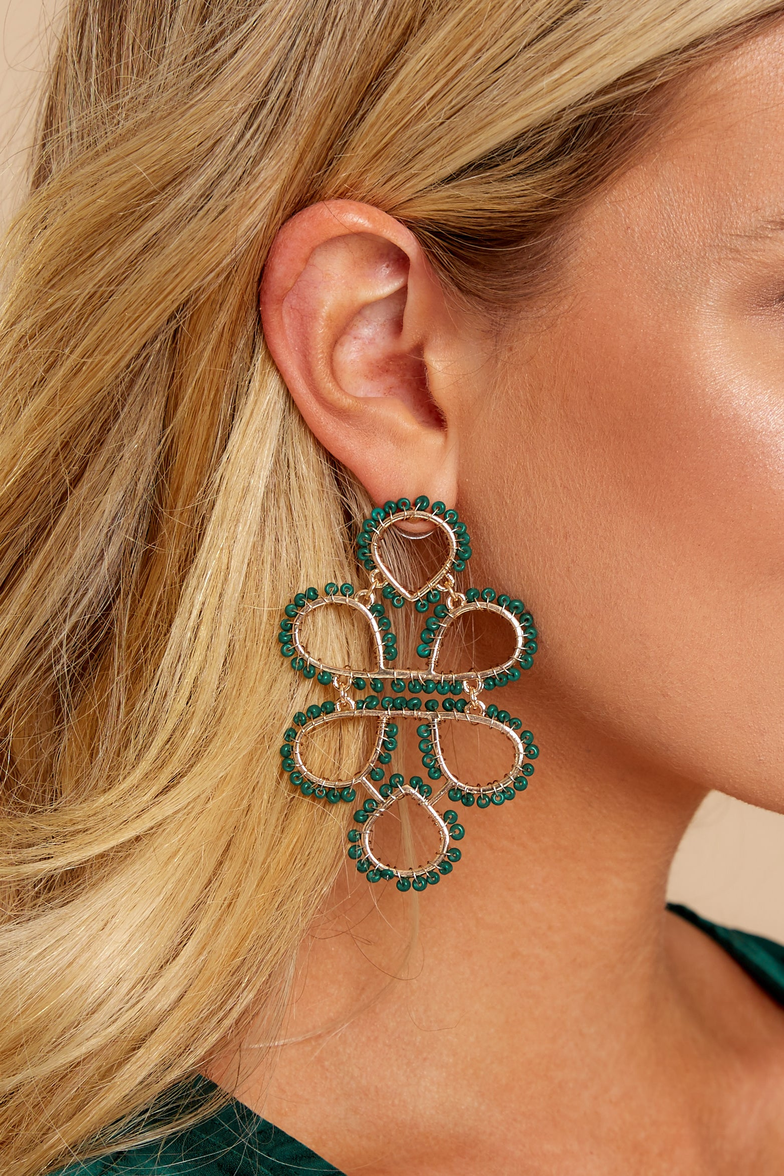 On Another Level Hunter Green Earrings