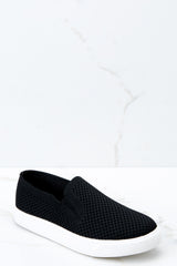 At A Moment's Notice Black Slip On Sneakers