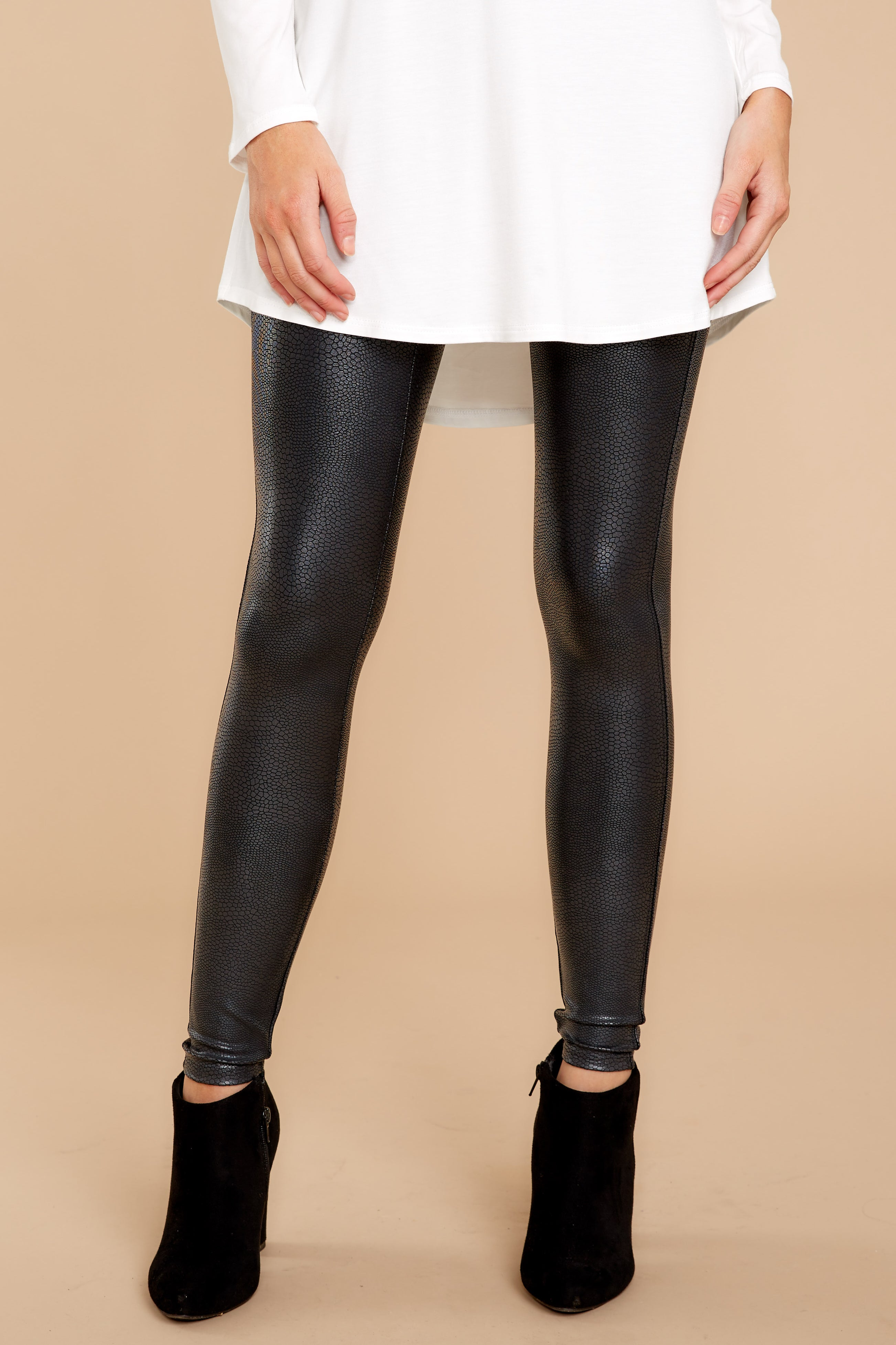 bc02f34d0e1ec Spanx Faux Leather Pebbled Leggings - Spanx Leggings - Leggings ...