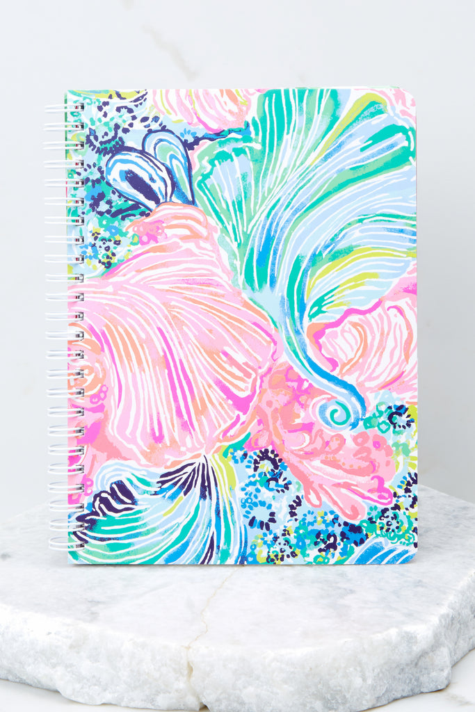1 Metallic Palms Mini Notebook at reddressboutique.com