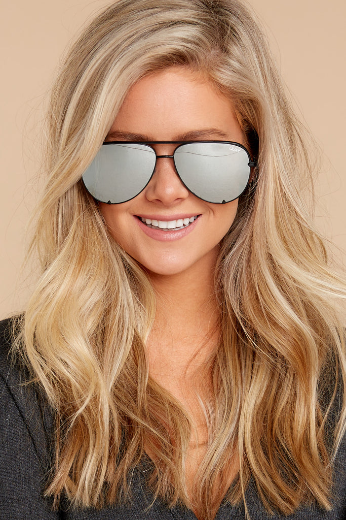 1 Still Standing Black Smoke Sunglasses at reddressboutique.com