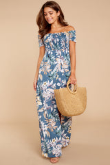 2 Chasing Memories Maxi Dress In Pacific Palm at reddressboutique.com
