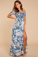 5 Chasing Memories Maxi Dress In Pacific Palm at reddressboutique.com