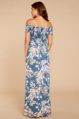 6 Chasing Memories Maxi Dress In Pacific Palm at reddressboutique.com