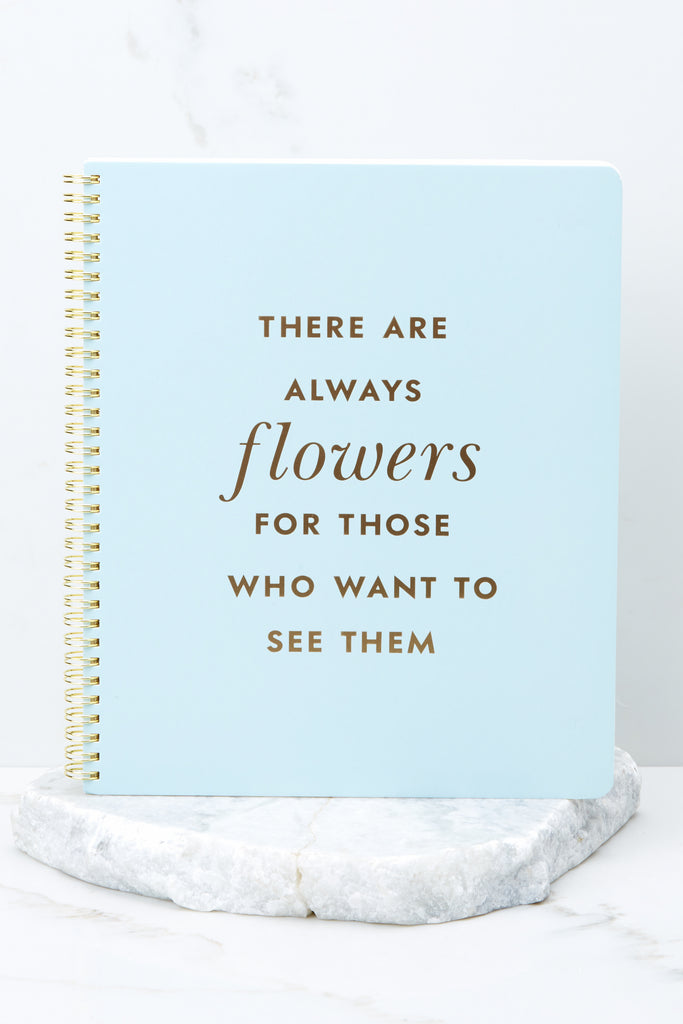 1 Golden Floral Large Spiral Notebook at reddressboutique.com