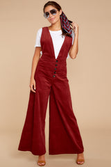 2 Overall Better Than Average Rust Overalls at reddressboutique.com