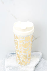 1 Golden Floral Thermal Mug at reddress.com