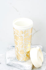 2 Golden Floral Thermal Mug at reddress.com