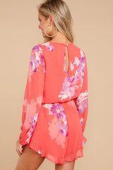 7 Touch Of Spring Hot Pink Floral Print Romper at reddressboutique.com