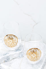 2 Fresh Squeezed Stemless Wine Glass Set at reddressboutique.com