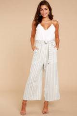 1 No Need Ivory Multi Stripe Pants at reddressboutique.com