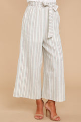 5 No Need Ivory Multi Stripe Pants at reddressboutique.com