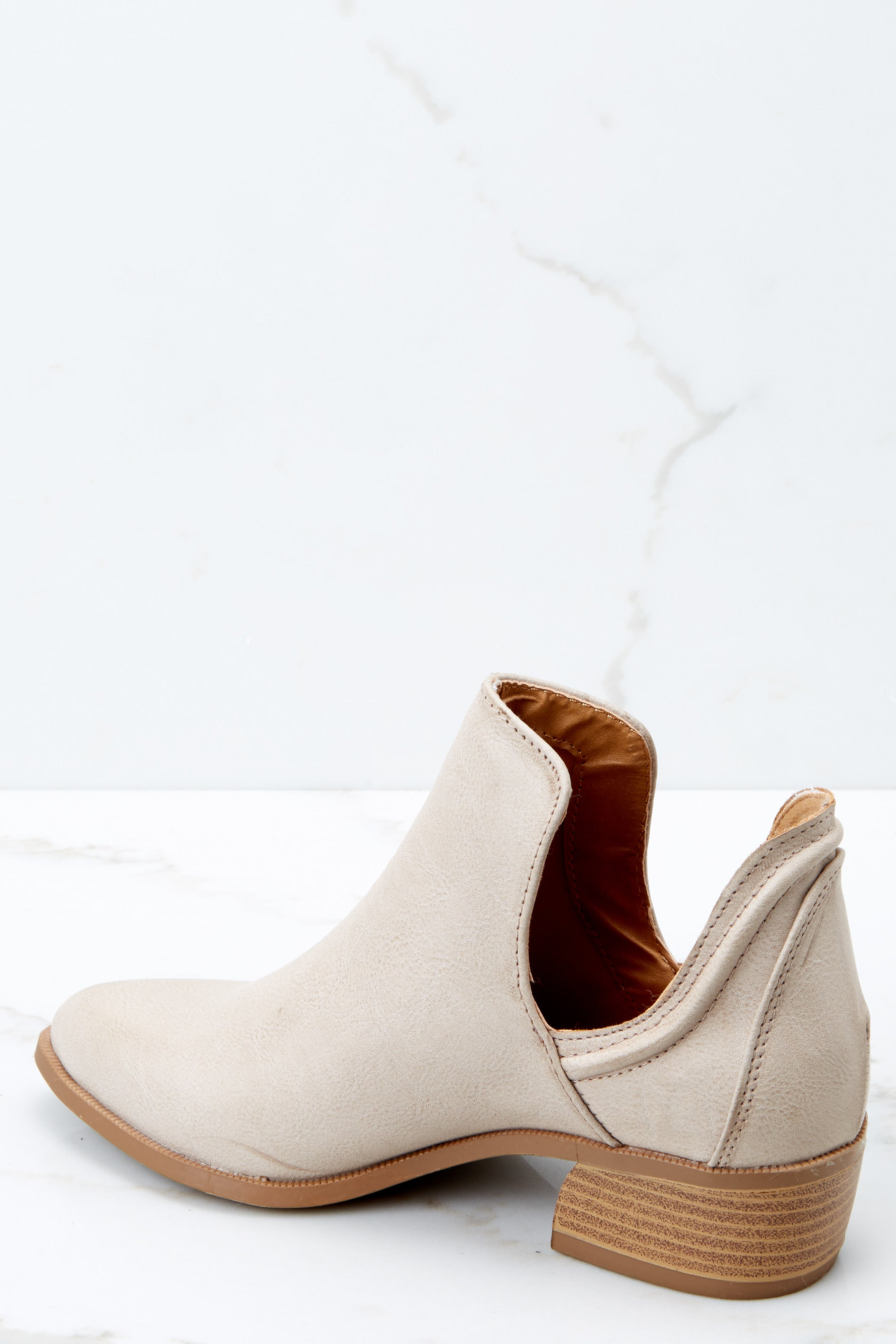 3 Came And Conquered Beige Ankle Booties at reddressboutique.com