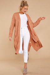 2 Out Do It Apricot Knit Cardigan at reddressboutique.com