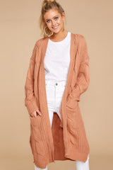 1 Out Do It Apricot Knit Cardigan at reddressboutique.com