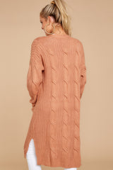 8 Out Do It Apricot Knit Cardigan at reddressboutique.com