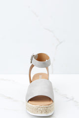 2 Know The Way To You Light Grey Flatform Sandals at reddress.com