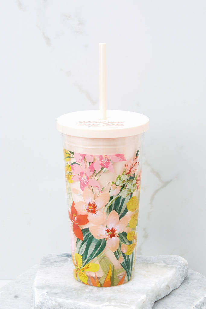 1 Pearlescent Sip Sip Tumbler With Straw at reddressboutique.com