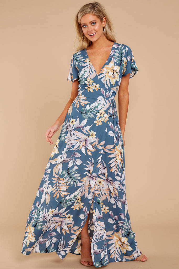 1 Chasing Memories Maxi Dress In Pacific Palm at reddressboutique.com