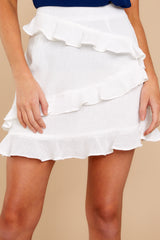 1 Play It Off White Skirt at reddressboutique.com