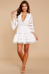 2 Happiness Is Key White Dress at reddressboutique.com