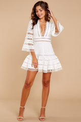 1 Happiness Is Key White Dress at reddressboutique.com