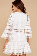 8 Happiness Is Key White Dress at reddressboutique.com