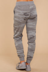 4 Loft Fleece Camo Jogger Pants In Camo Dark Grey at reddressboutique.com