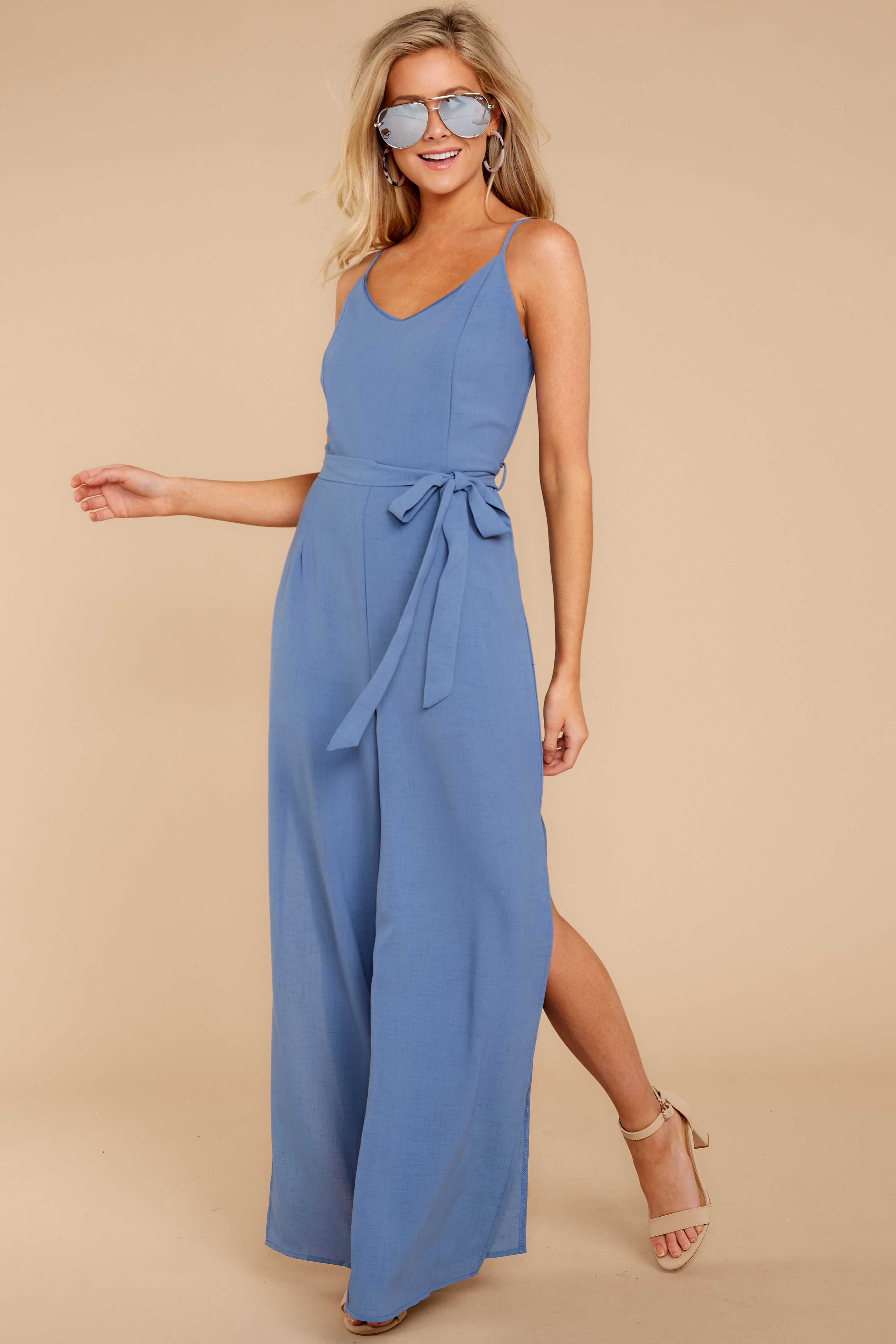 5 The Perfect Way Dusty Blue Jumpsuit at reddress.com