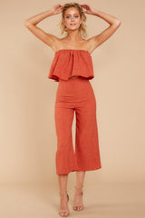 1 Nothing But Chic Rust Two Piece Set at reddressboutique.com