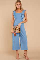 2 Join In The Fun Chambray Jumpsuit at reddressboutique.com