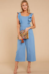3 Join In The Fun Chambray Jumpsuit at reddressboutique.com