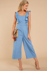 1 Join In The Fun Chambray Jumpsuit at reddressboutique.com