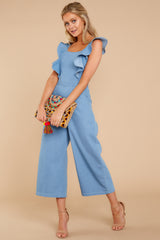 4 Join In The Fun Chambray Jumpsuit at reddressboutique.com