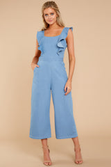 5 Join In The Fun Chambray Jumpsuit at reddressboutique.com