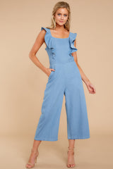 6 Join In The Fun Chambray Jumpsuit at reddressboutique.com