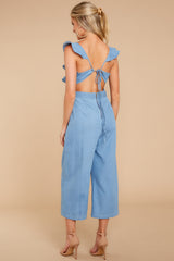 7 Join In The Fun Chambray Jumpsuit at reddressboutique.com