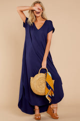2 Always The Same Thing Navy Maxi Dress at reddressboutique.com