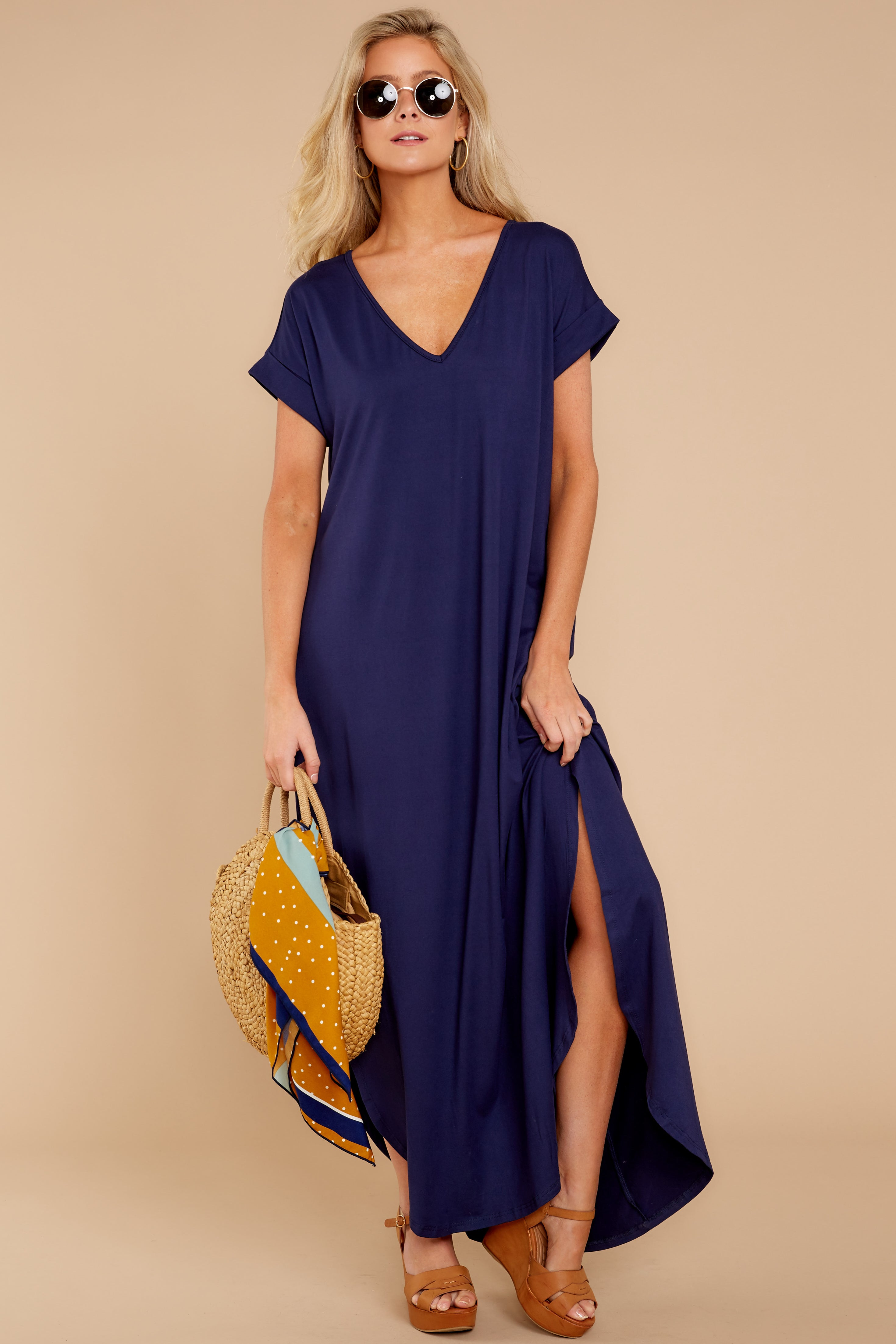 3 Always The Same Thing Navy Maxi Dress at reddressboutique.com