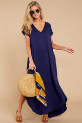 4 Always The Same Thing Navy Maxi Dress at reddressboutique.com