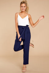 Work Week Chic Navy Blue Pants