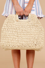 1 Taking It With You Beige Bag at reddressboutique.com