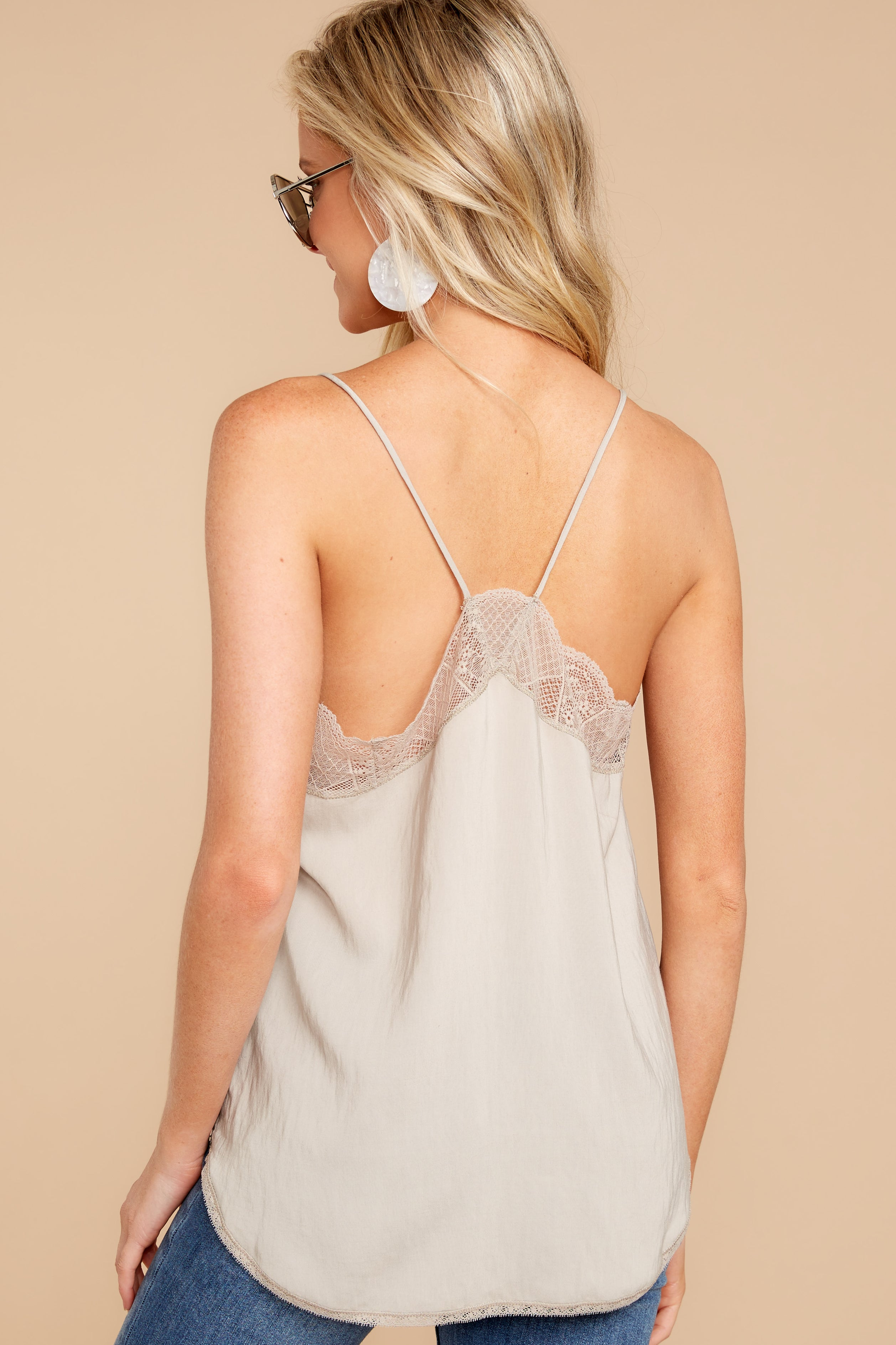 7 Slip Into This Taupe Lace Tank Top at reddressboutique.com