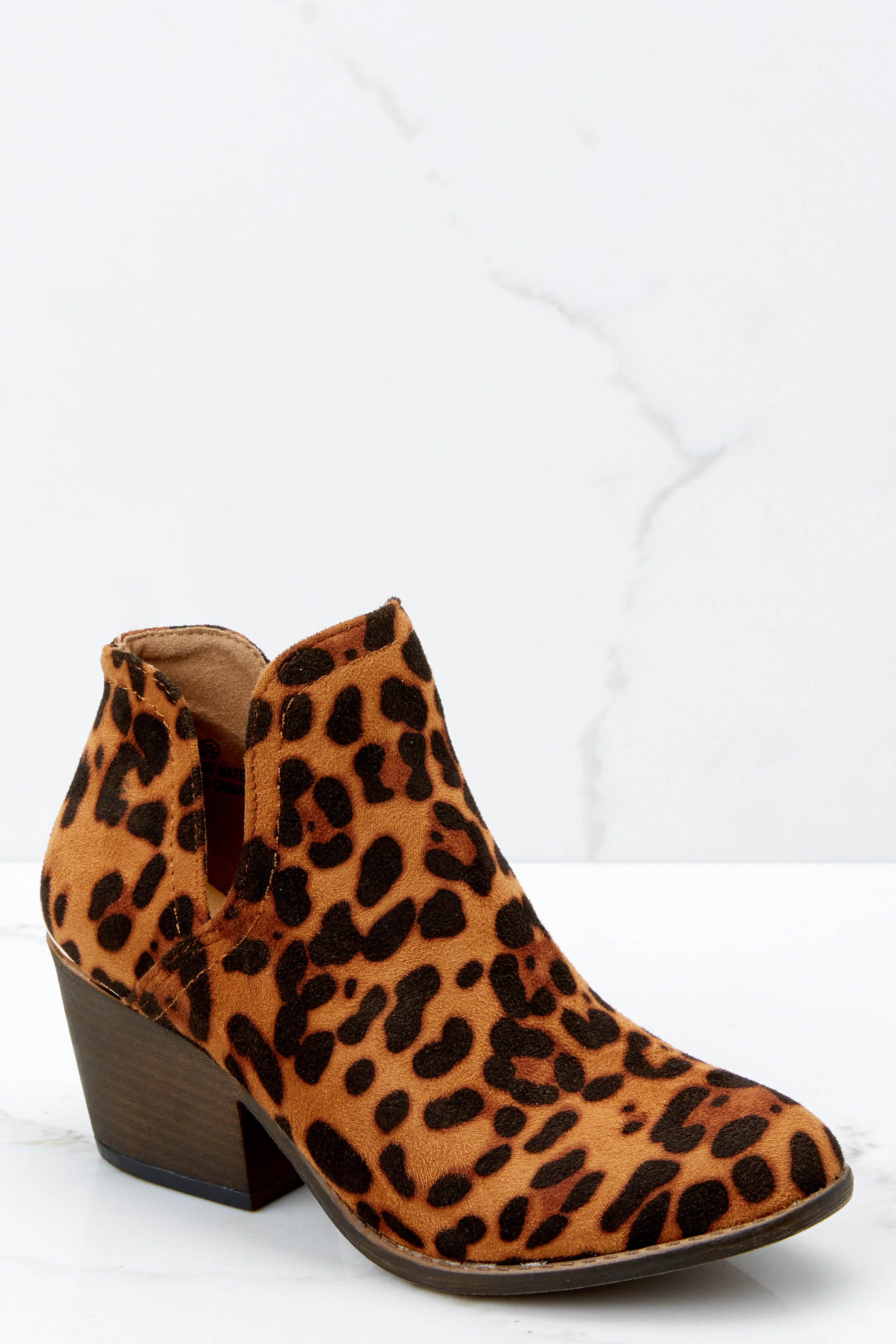 00dec079c865 Cute Leopard Booties - Trendy Ankle Boots - Booties - $38.00 – Red Dress