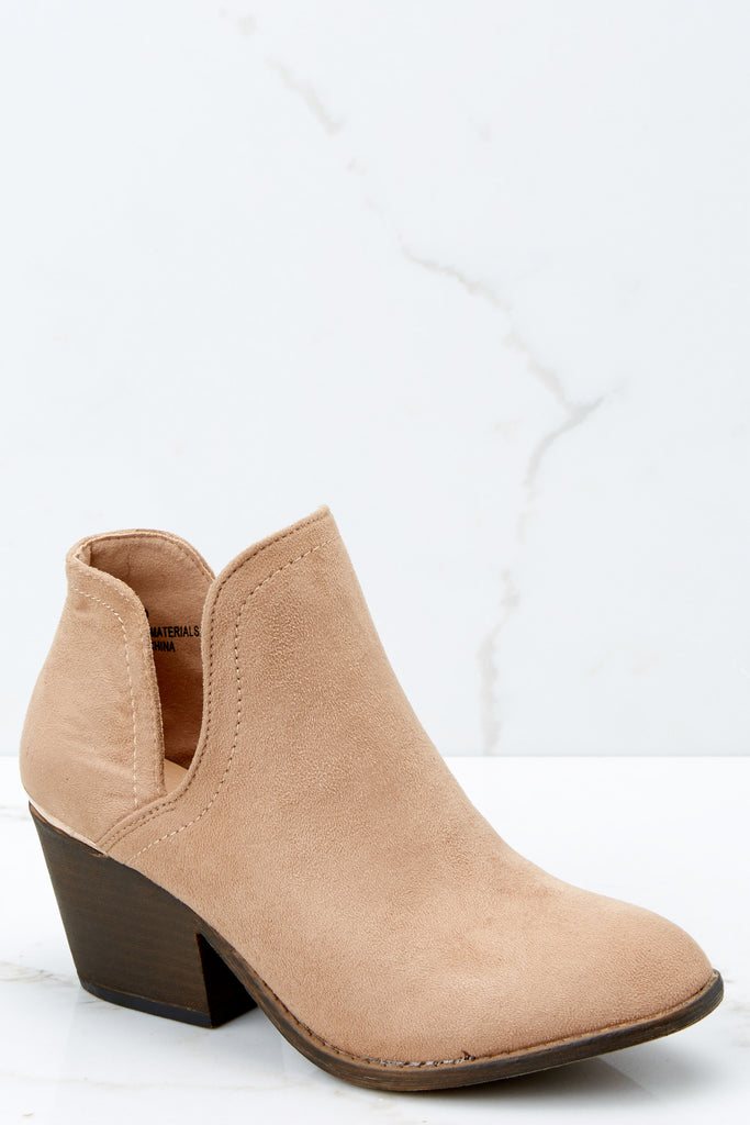 2 Walk The Floor Cognac Ankle Booties at reddressboutique.com
