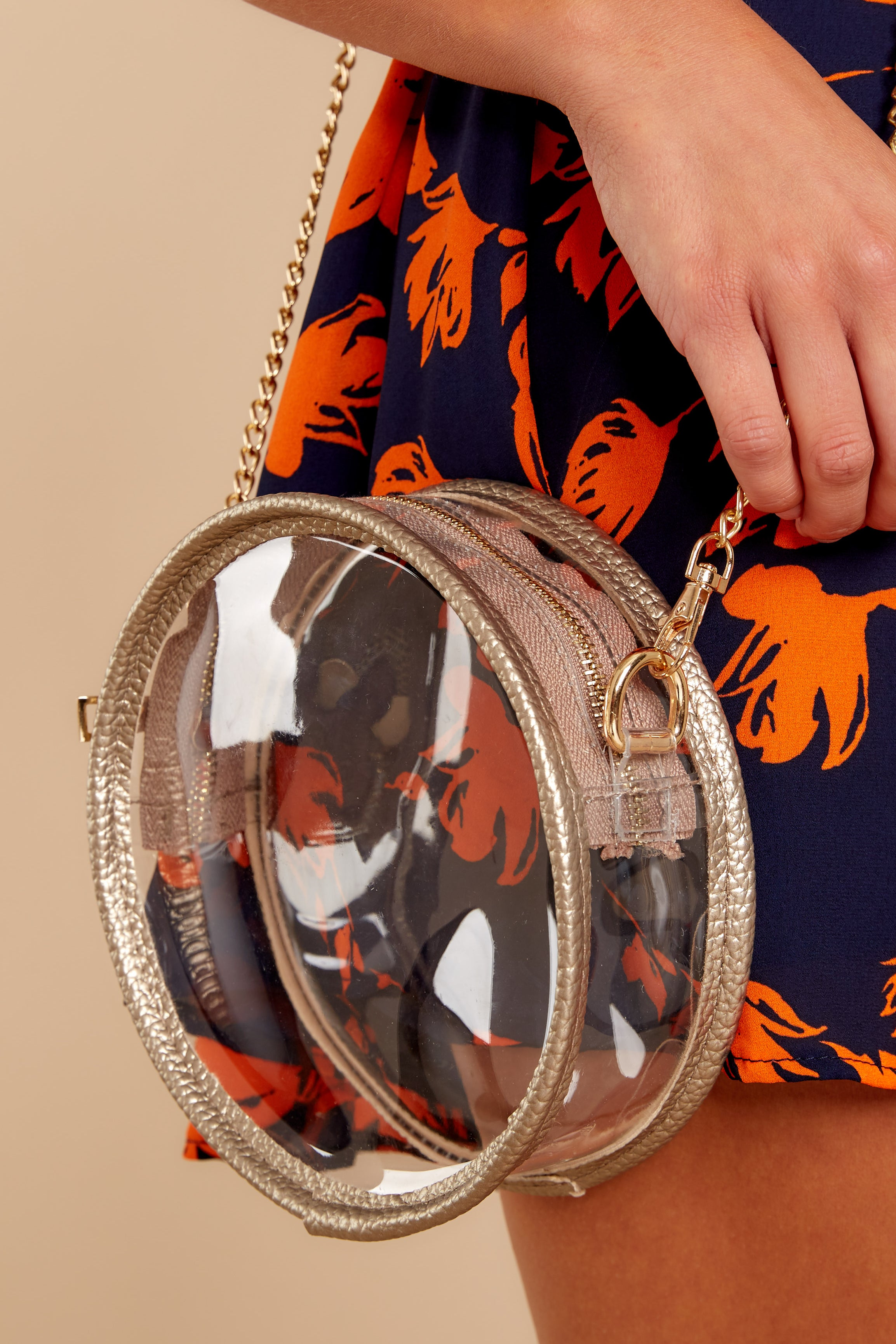 Around Game Time Gold Round Purse